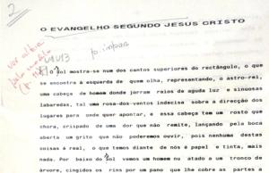 Manuscrito original, ElEvangelioSegúnJesucristo